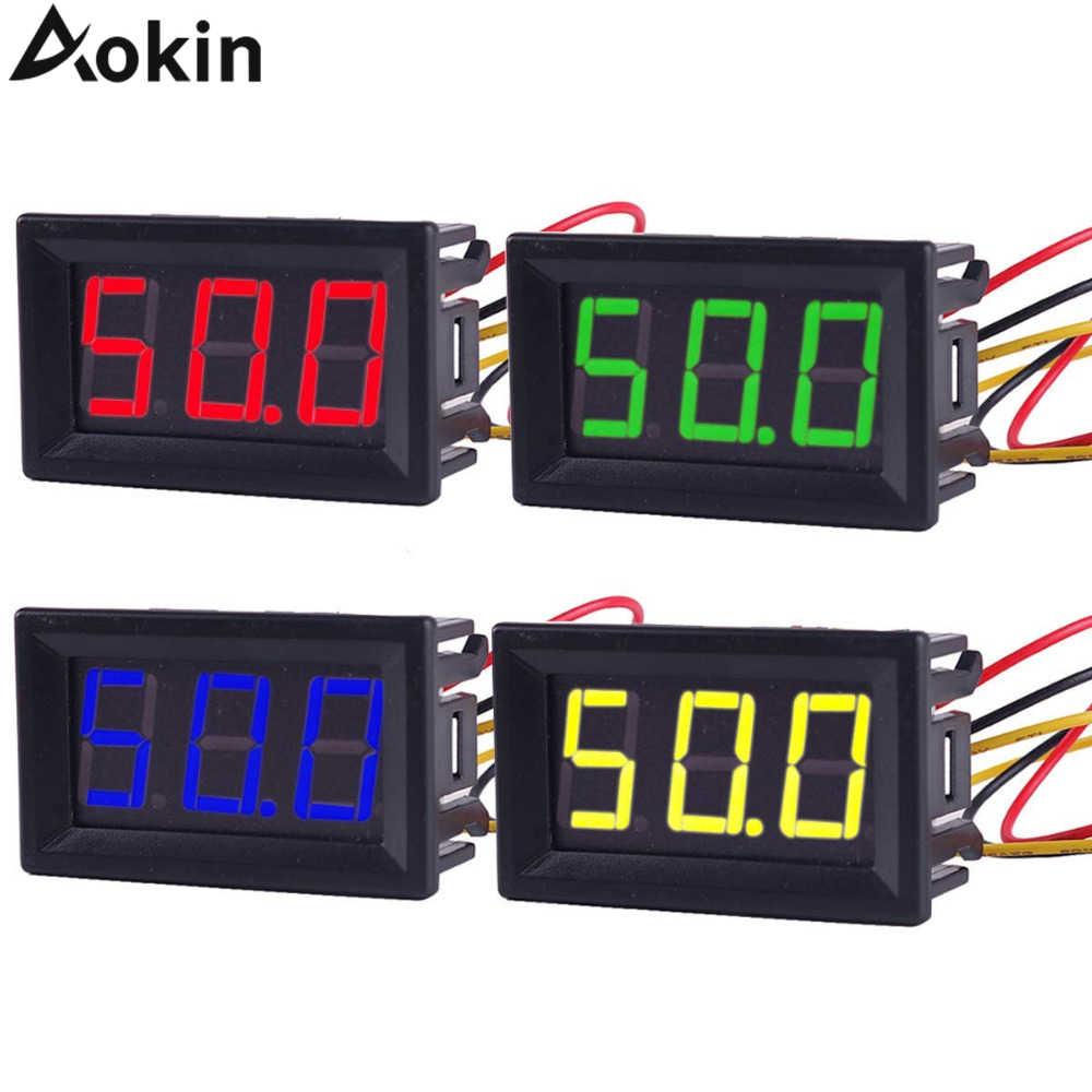 Digital Voltmeter Ammeter 0 56in 2 3 Wire 0 100v Mini Dc Voltmeter Led Display Panel Meter Current Monitor Volt Tester Aliexpress