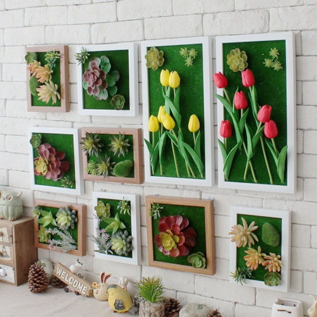 Exceptional Pastoral Stereo Shop Artificial Flowers Wall Decoration Creative Artificial  Plants Wall Mural Zakka Home Decor