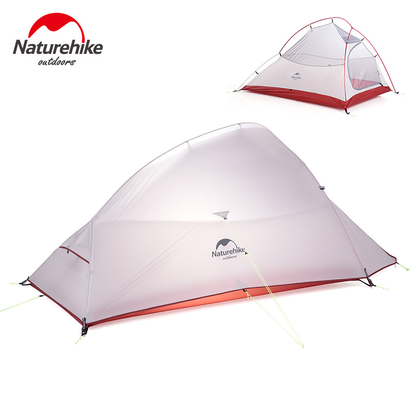 NatureHike 2 Person Waterproof Tent Double layer Camping Tent with Skirt Picnic Lightweight 4 seasons Tent