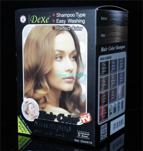 Dexe Brand Chestnut Brown Hair Dye Cream For Women And Men Brown