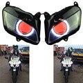 2.8inch White Angel Eyes W/ Red Demon Eyes HID Assembly Headlight  Fits For Honda CBR600RR CBR 600 RR 2007-2012 Repsol