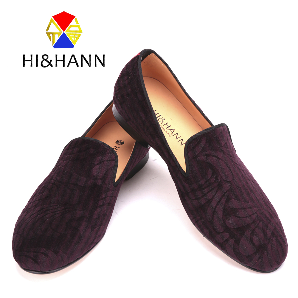 new arrival USA brand Handmade men wine red velvet shoes with Paisley printing Genuine leather insole and outsole men's loafers 2017 new arrival comfortable genuine leather bottom and insole men loafers colourful banquet men handmade shoes party male flats
