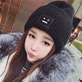 2016 New Fashion Casual Cute Hats Purple & Green Smile Wool Women Hats & Caps For Winter Chapeus