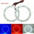 2pcs/lot 80mm Car Angel Eyes 1210/3528 24SMD LED Headlight Halo Ring Angel Eye Lighting White Red Blue #J-2668