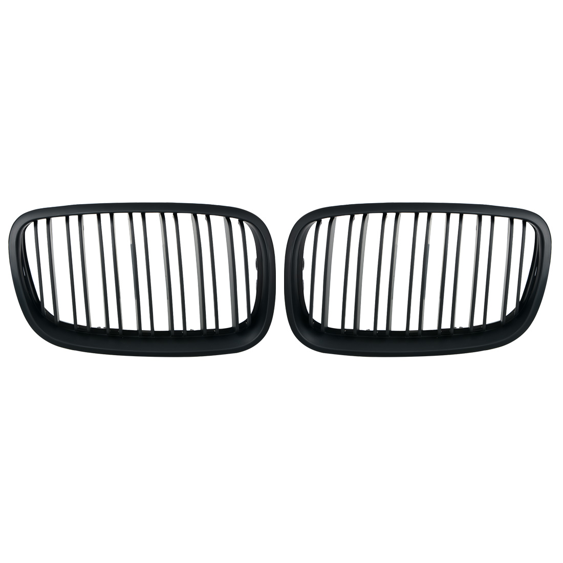 2pcs Matte Black Double Slat Kidney Grille Front Grill For BMW E70 E71 Model X5 X6 SUV M Sport xDrive 2007-2013 Car Styling 1pair matte black double slat kidney grille front grill for bmw e70 e71 model x5 x6 suv m sport xdrive 2008 2012 car styling