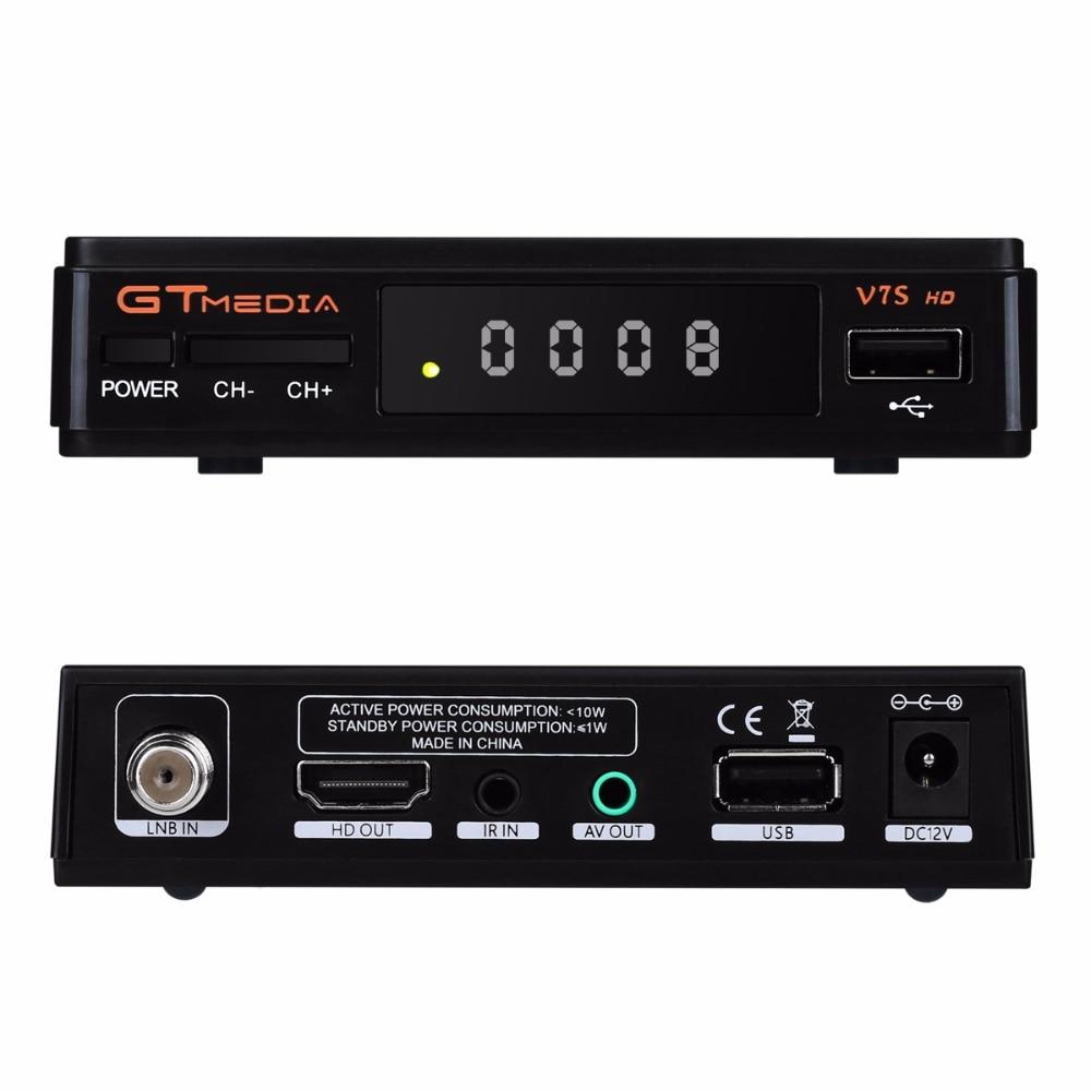 1 Year Europe 7 Clines Server GTMedia V7S HD Digital Satellite Receiver DVB-S2 V7S HD Full 1080P+USB WIFI Upgrade Freesat V7 10