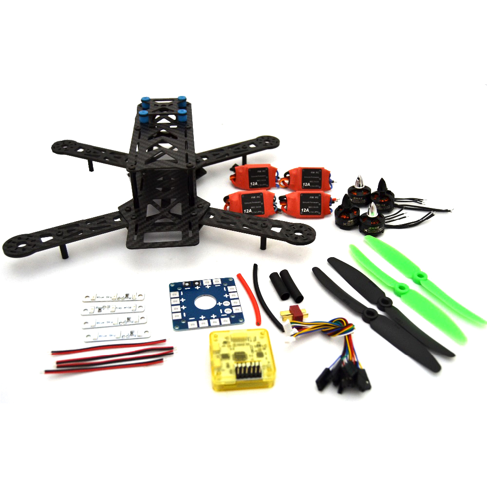 Fpv Carbon Fiber Mini Qav250 C250 280 Quadcopter Emax 1806 Brushless Motor And Simonk12a Esc Flight Control Prop Special Offer carbon fiber zmr250 c250 quadcopter