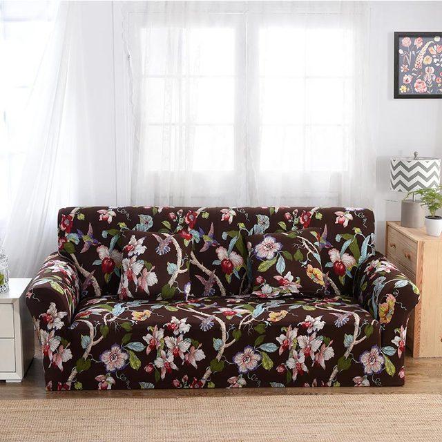 Spandex Slipcovers Elastic Sofa Covers Flower Printing Soft Sofa Protector  Corner Sofa Single/Two/
