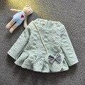 Novo 2016 primavera outono meninas crianças vestido de roupas de algodão de manga longa vestidos de impressão vestido da menina do bebê infantil do bebê roupas de bebê recém-nascido