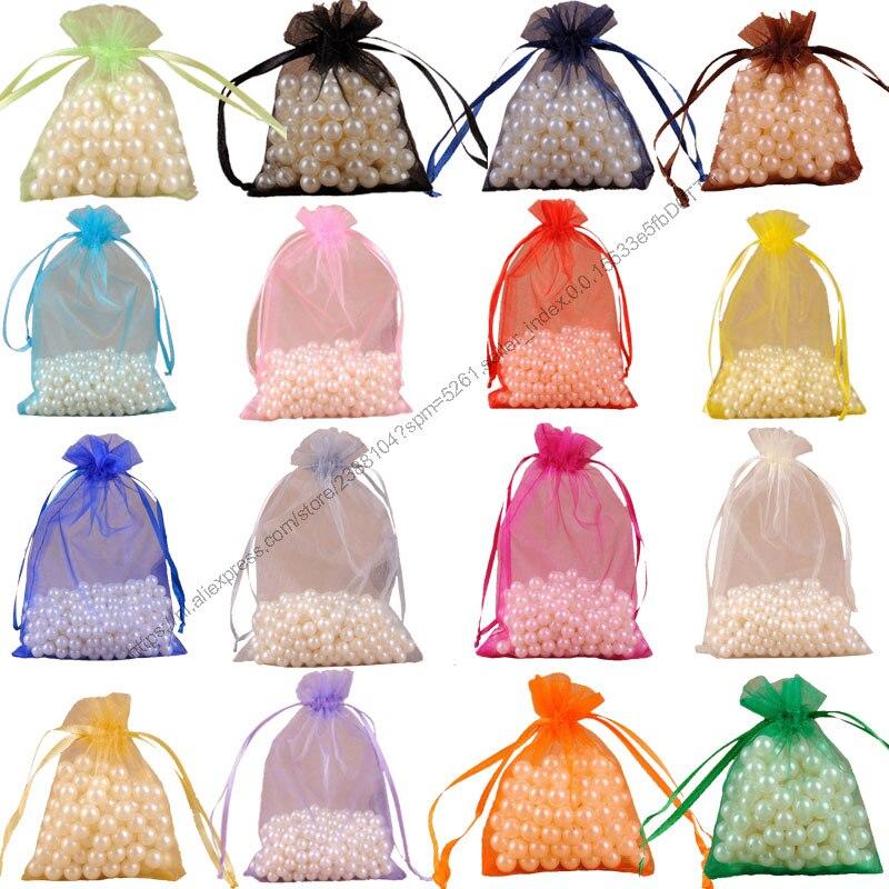 10 Teile/pakete 35x50 Cm Große Organza Beutel Hochzeit Geschenk Taschen Schmuck Beutel Weihnachten Schmuck Verpackung Display 6z