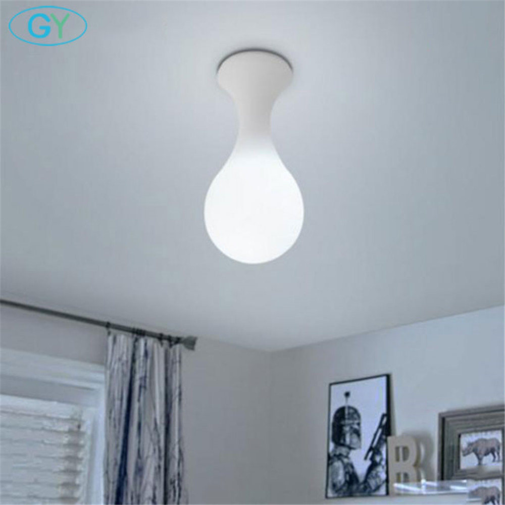 Art Designer Lamp European Living Room Dining Room Milky ceiling lights modern Stairs Bedroom Lighting Water Drops Ceiling lamp