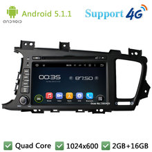 Quad Core 8″ HD 1024*600 2DIN Android 5.1.1 Car DVD Player Radio Screen FM DAB+ 3G/4G WIFI GPS Map For KIA K5 Optima 2011-2013
