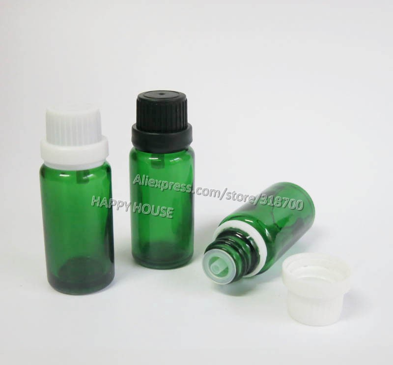 360 X 15ml Green Glass Essential Oil Bottle With Tamper Evident Cap, 15cc Green Glass Bottle