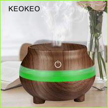 KEOKEO Air Humidifier 300ML USB Aroma Essential Oil Diffuser Portable Humidifier Air Purifier 7 Color LED Mini Atomizer For Home wholesale price cute lucky cat led light humidifier usb air diffuser purifier atomizer essential oil diffuser for office home