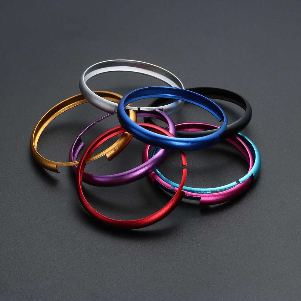 Ze stopu aluminium klucz pierścień ochronny wykończenia łańcucha dekoracja dla BMW Mini Cooper Clubman Countryman klucz Shell samochodów akcesoria