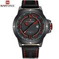 2016 NAVIFORCE relogio masculino Quartz Sports Relógios homens Casuais relógio de pulso de Couro relojes hombre Militar Do Exército dos homens relógio