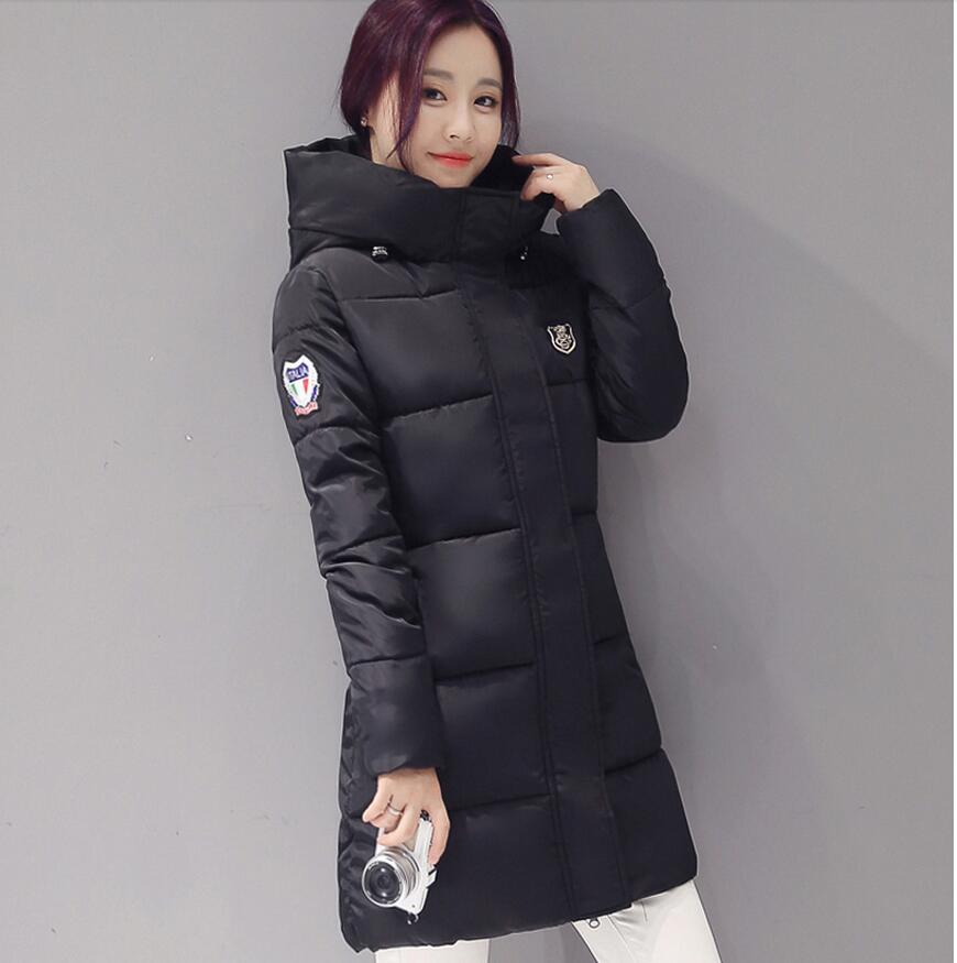 Women Winter   basic     jacket   Female   jacket   Coat Thickening Cotton Winter   Jacket   Womens Outerwear Parkas for Women Winter Outwear