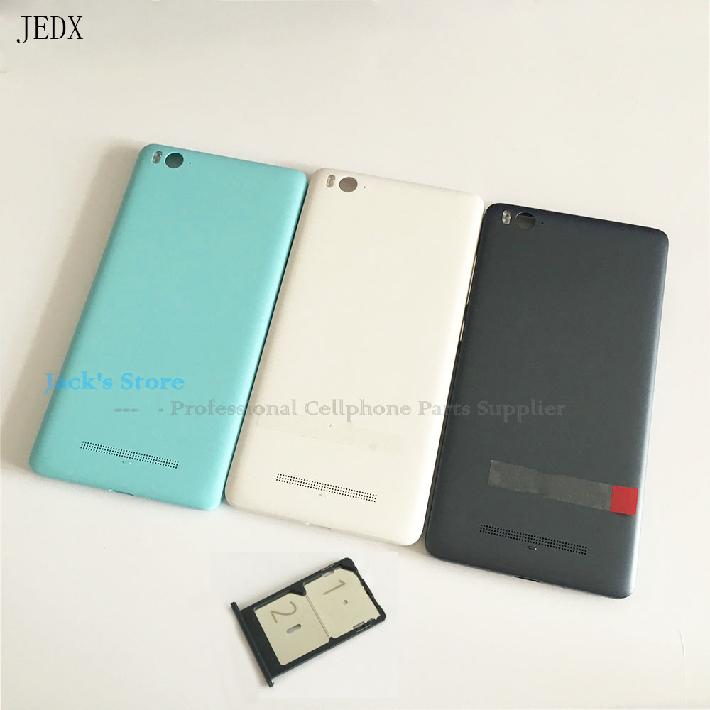 JEDX for <font><b>Xiaomi</b></font> MI 4C <font><b>Mi4c</b></font> Back <font><b>Battery</b></font> Cover Door Housing With Side Buttons sim card Tary