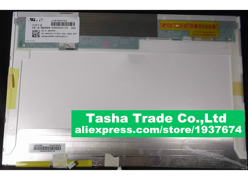 For DELL Precision M4400 Latitude E6500 LCD Screen Panel LTN154CT02 WUXGA 15.4 image