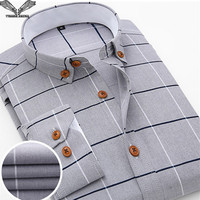 2015 Autumn New Brand High Quality Men Dress Shirts Solid Long Sleeve Slim Fit Clothing Cotton