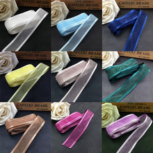 5M 2.5cm Satin Edge Organza Ribbon for Gift Wrapping Hair Bows DIY Craft Flowers Wedding Party Decoration Christmas Ribbons 40pcs blue color organza ribbon flowers handmade flowers apparel sewing accessories wedding decoration crafts a560
