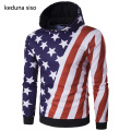 Cool Style Pullover Hoodie Men American flag Print Raglan Sleeve Star Striped Hoodies Male Sweatshirt Tracksuits Masculino