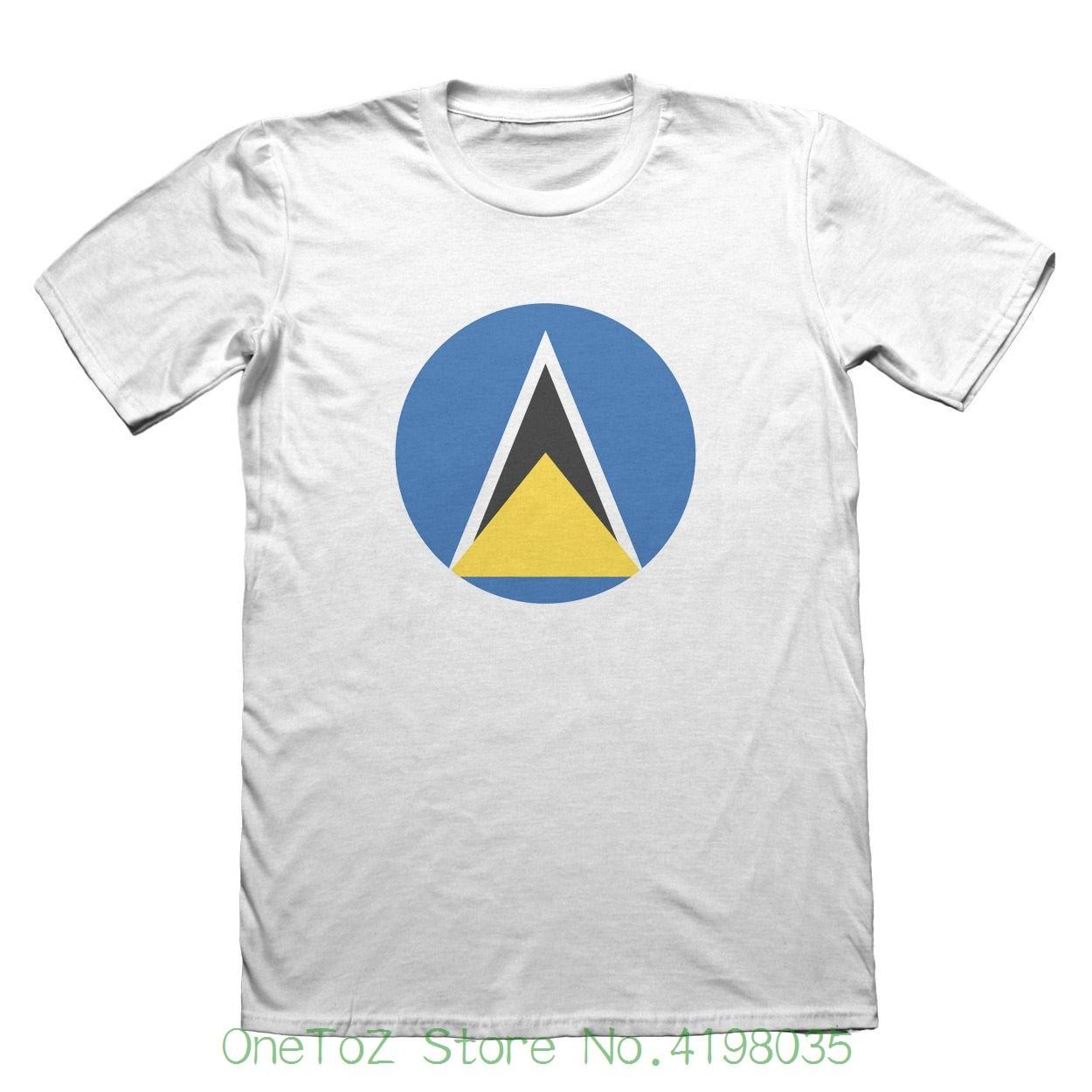 Saint Lucia Flag T-shirt - Mens Fathers Day Christmas #9068 Summer Style Hip Hop Men T-shirt Tops