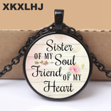 2018 SISTER of my Soul FRIEND of my Heart, Necklace Pendant,Inspirational charm necklace,Gift for Best Friend,Sister jewelry цена 2017