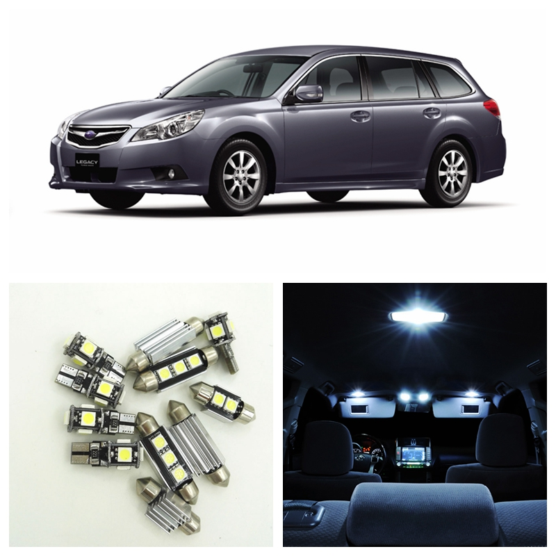 12pcs White Car LED Light Bulbs Interior Package Kit For 2000-2009 Subaru Legacy Map Dome Trunk Door License Plate Lamp 14pcs error free white canbus car led light bulbs interior package kit for 2002 2007 volvo v70 estate xc70 map dome trunk lamp