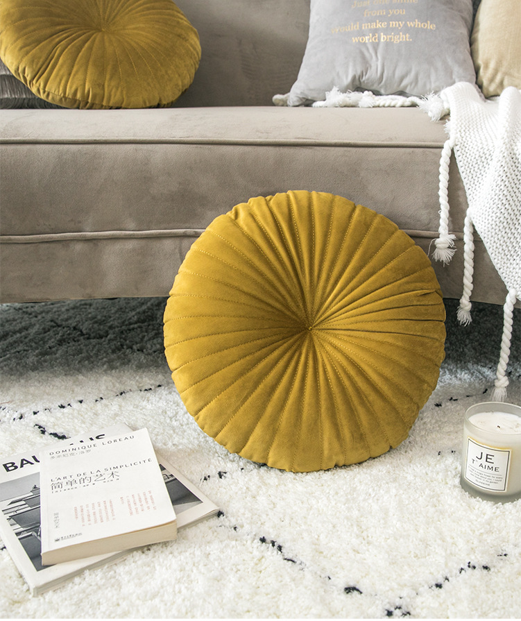 fanric lance travesseiro redondo tecido artesanal abóbora