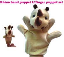 Marioneta Rinoceronte + Marioneta de Dedo