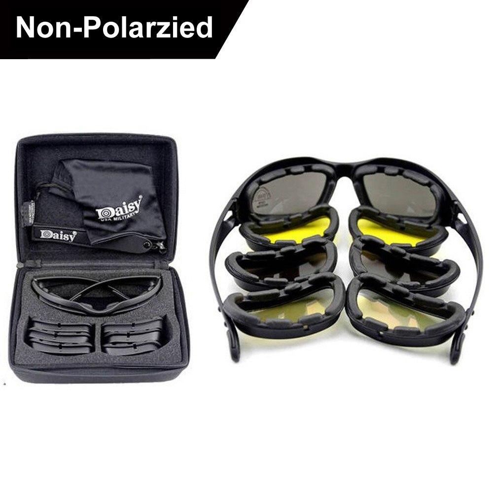 Neue Daisy C5 Polarisierte Armee Brille Sonnenbrille Männer Military Sonnenbrille Für Männer Desert Storm Krieg Taktischen Schutzbrillen