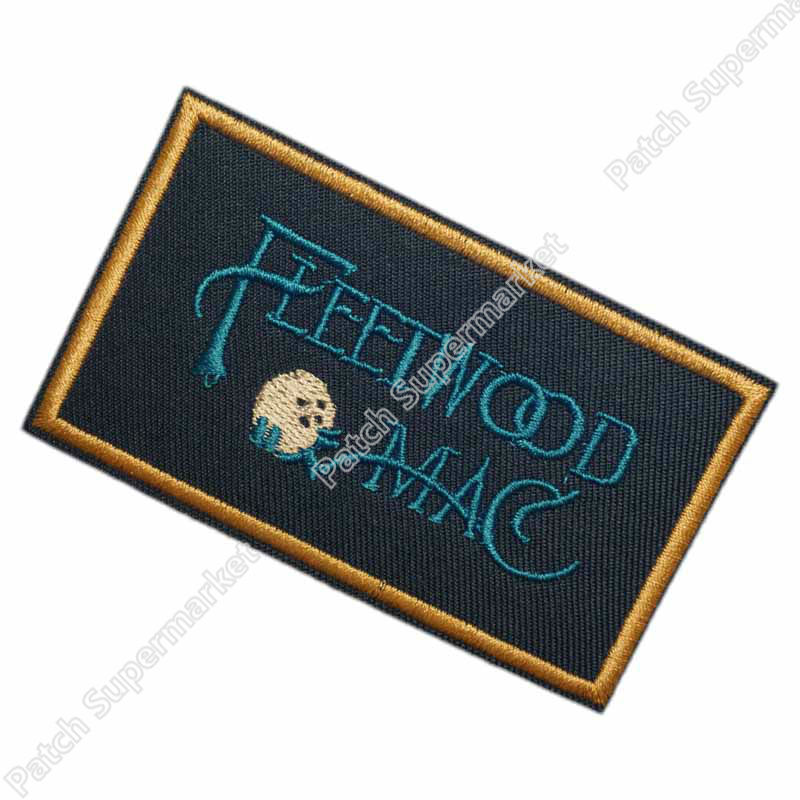 Quot fleetwood mac iron on patch music band embroidered