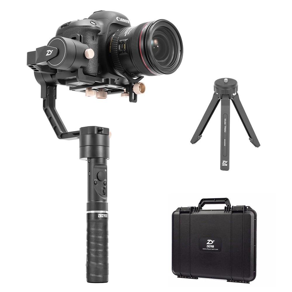 Zhiyun grue plus 3 axes poche DSLR stabilisateur portable Smartphone cardan charge utile maximale 2.5 kg pour appareils photo reflex numériques sans miroir