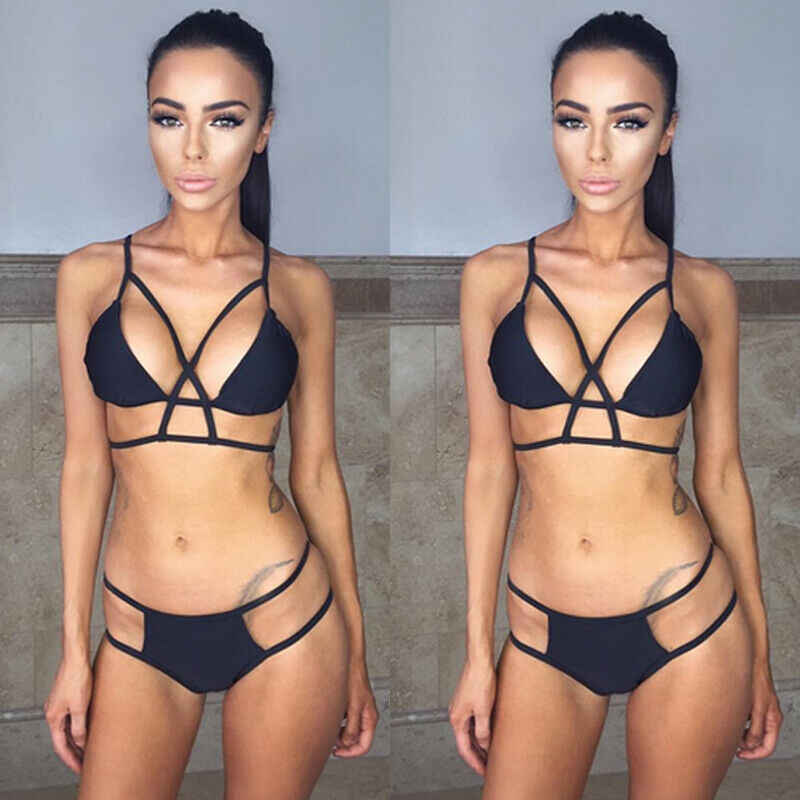 Women Bikini Set Bandage Push-Up Padded Swimwear Swimsuit Bathing Suit Beachwear