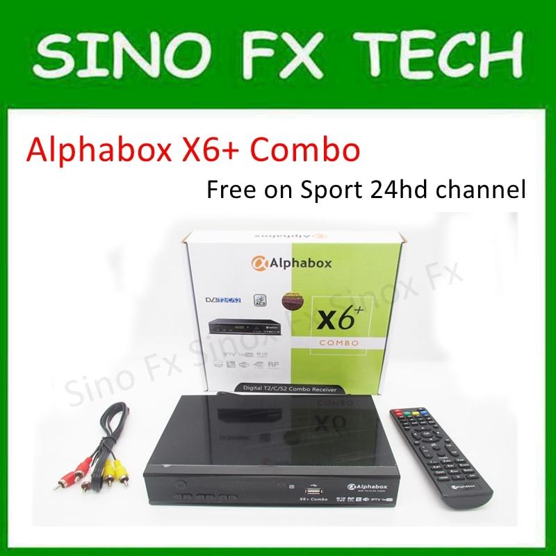 free ship Alphabox X6+ Combo powervu autoroll DVB-T2/C/S2 Combo receiver sport 24HD football match