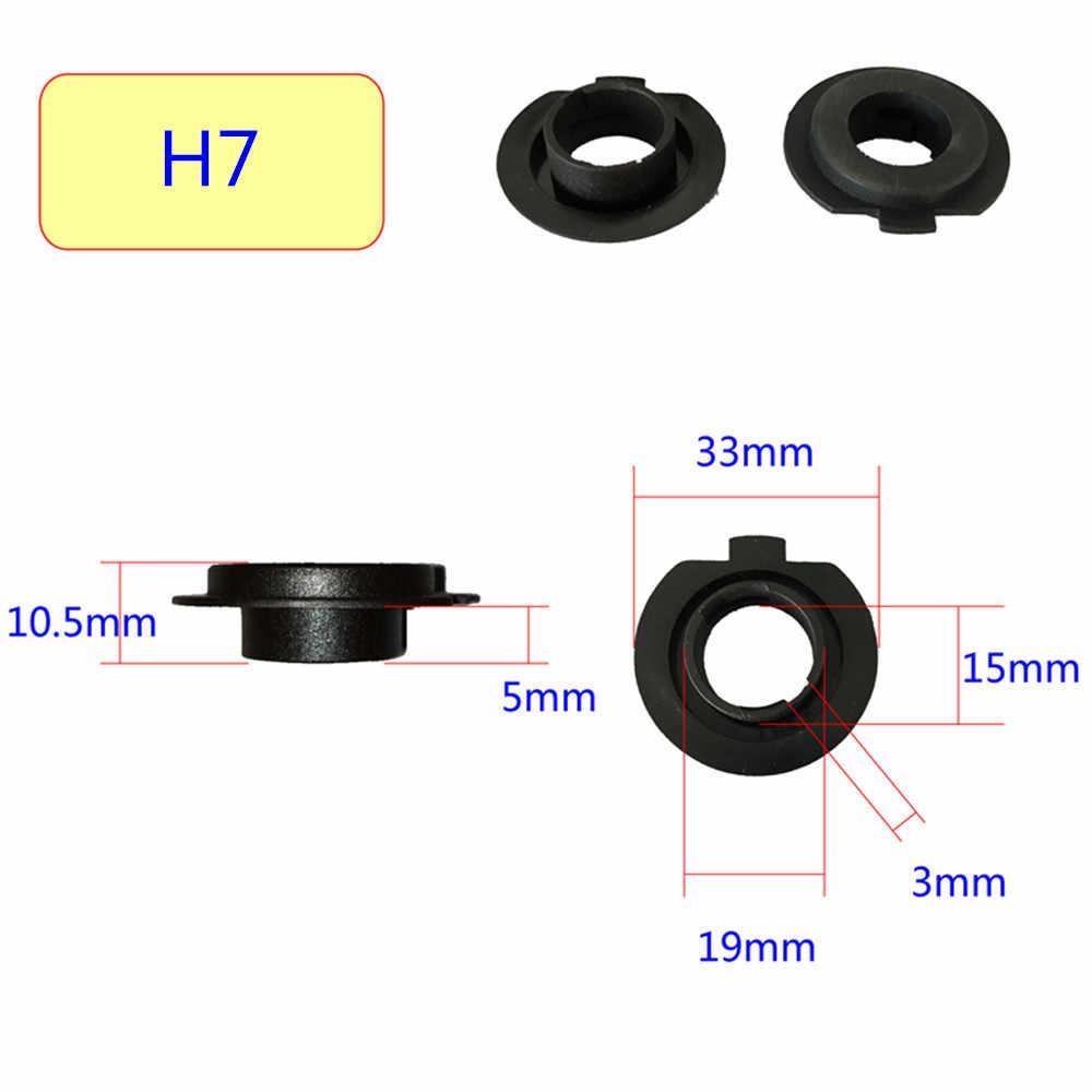 Вдлительную 2 шт. H7 светодиодный фар основание держателя переходника для Светодиодный H1 H4 H11 H8 H9 H13 9004 9005 9006 9007 880 фары розетки светодиодный лампы