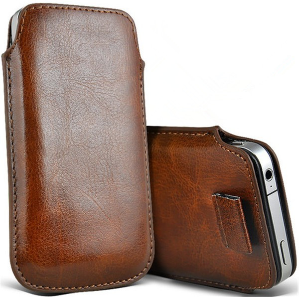 Cuero de la pu bolsas móvil casos para fly fs401 colores pouch case bolsa de acc
