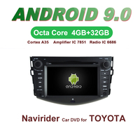 OTOJETA Car GPS Android 9.0 Radio FOR TOYOTA RAV4 2008 2010 2012 Navigation integrated DVD Capacitive screen Support Mirror Link
