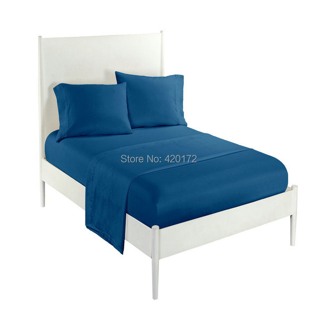 Wholesale Solid Color Sheets Fitted Bed Sheet Solid Color Bed Sheet Fitted  Sheet And Pillow Case