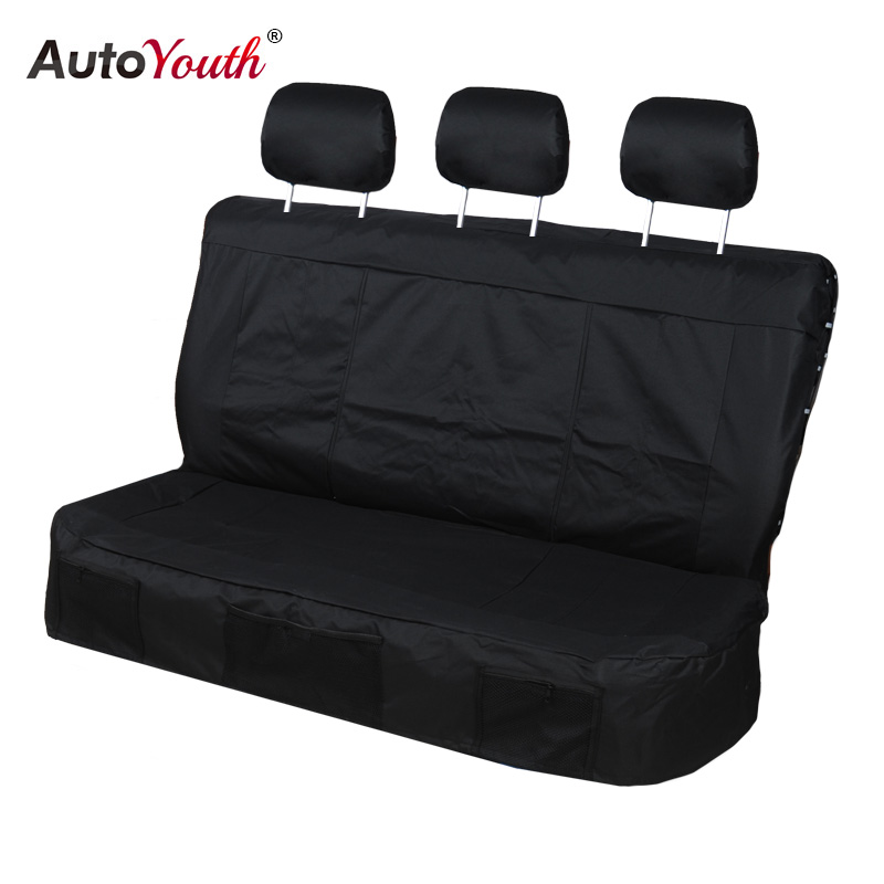 AUTOYOUTH housses de siège auto 3 couleurs housses de siège arrière tissu Oxford Durable style de voiture adapté à la plupart des nouveaux accessoires d'intérieur de voitures - 2