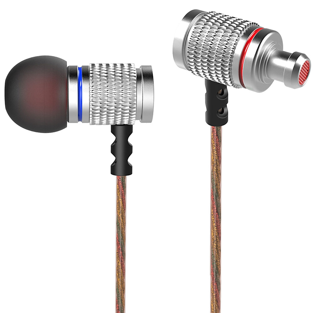 Original KZ ED EDR2 KZ-ED2 In-Ear Earphone Metal Heavy Super Bass Sound Earbuds With Microphone for Phone iphone PC