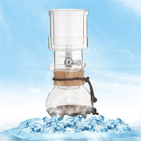 400 ml Percolators Ampulheta De Vidro Pote de Café Bebida Fria de Café do Gotejamento de Gelo Fabricante de Filtros de Água Casa Cozinha de Vidro Para 2 copos