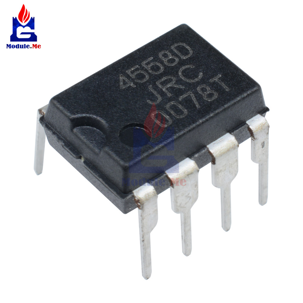 50PCS/Lot IC Chips JRC4558 4558 4558D JRC4558D DIP-8 Original Integrate Circuits
