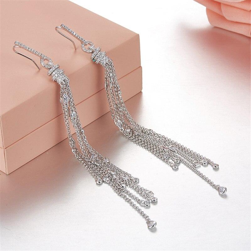 [MeiBaPJ] véritable 925 argent Sterling Simple personnalité glands boucles d'oreilles pour les femmes avec AAA haute qualité Zircon bijoux fins