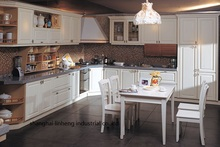 PVC/vinyl kitchen cabinet(LH-PV017)