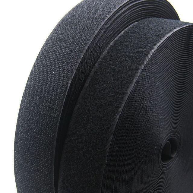 1Meter/Pair 16/20/25/30/38/50/100mm adhesive Hook and Loop fastener Tape No Glue velcros adhesive Sewing-on strips Magic tape