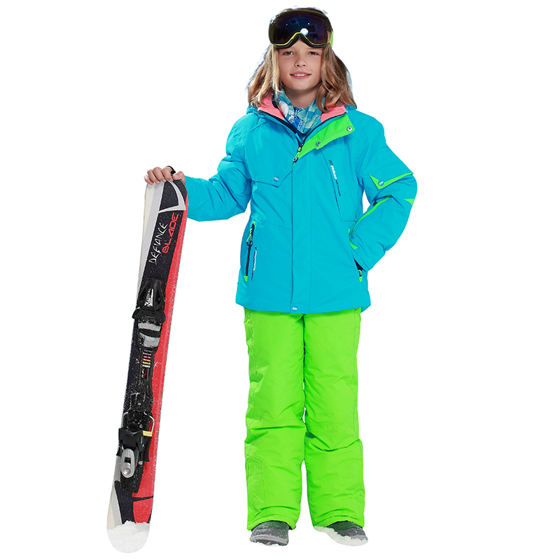 Phibee Ski Suit Baby Girl Clothes Warm Waterproof Windproof Snowboard Sets Winter Jacket Kids Clothes Children Clothing