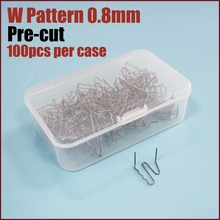 Pre Cut W Shape Hot stapler replacement staples 0.8mm Pack of 1000  ST-013PC
