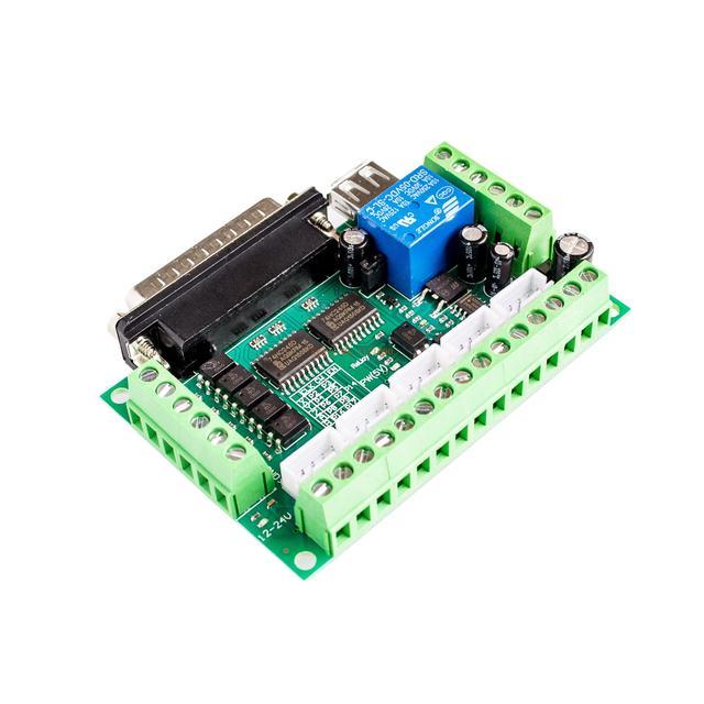 Модернизированный 5 осевое Интерфейс адаптер Breakout совета для Шаговые двигатели Драйвер Mach3 + кабель USB